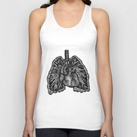 lungs Tank Tops featuring LUNGS by Fanny Andy