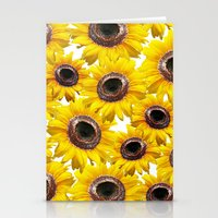 sunflowers Stationery Cards featuring Sunflowers by Regan's World
