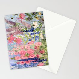 Flowers Garden Acrylic Painting Stationery Cards
