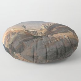 Leo von Klenze - Reconstruction of the Acropolis and Areopagus in Athens Floor Pillow