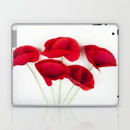 a Bunch Of Red Poppies Laptop & iPad Skin