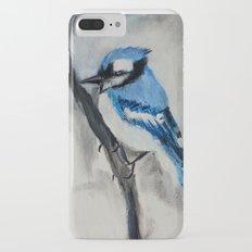 Blue Jay Wild Bird Acrylic Painting iPhone 7 Plus Slim Case