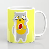 racoon Mugs featuring Racoon by Jessica's Illustrationart