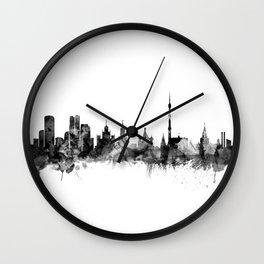 Moscow Russia Skyline Wall Clock