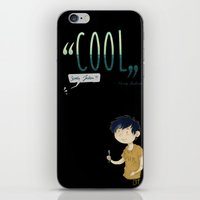 "percy jackson iPhone & iPod Skins featuring ""Cool"" ?! Percy ?!  by CornFlakes Production"