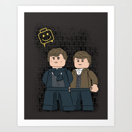 Solving Crimes  (Lego Sherlock Holmes) Art Print