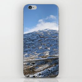 The Drive to Cardrona Ski Fields from Queenstown, New Zealand iPhone Skin