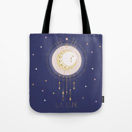 The Moon and stars - magical tarot illustration no6 Tote Bag
