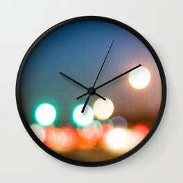 Blurry Lights in Montreal Wall Clock