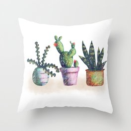 Cacti for cactuslovers Throw Pillow