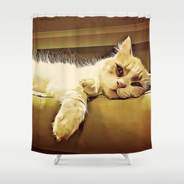 Life Is So Exhausting, I think I'll Just Have A Little Nap Shower Curtain