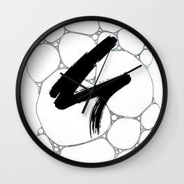 Soap Bubble Scribble Wall Clock