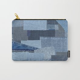 Boroboro Blue Jean Japanese Boro Inspired Patchwork Shibori Carry-All Pouch