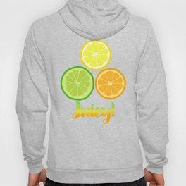 Citrus Slices on White Hoody