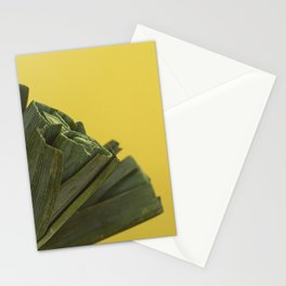 Leeks on yellow Stationery Cards