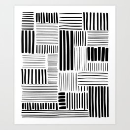 Black and White Abstract Pattern Art Print