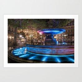 Fountain Du Louvre Art Print