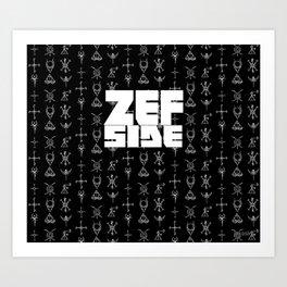 Zef Side Design Art Print