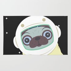 Pug in Space Rug
