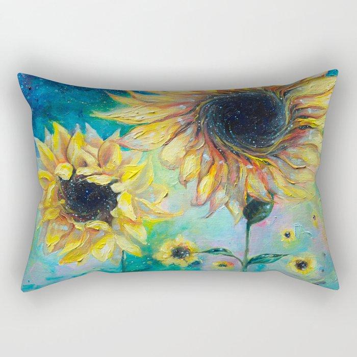 Supermassive Sunflowers Rectangular Pillow