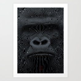 Did You See the Gorilla Art Print