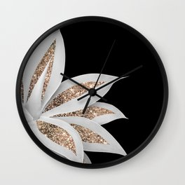 Agave Finesse Glitter Glam #6 #tropical #decor #art #society6 Wall Clock