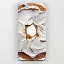 Bagel with Cream Cheese iPhone Skin
