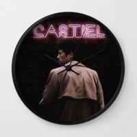 castiel Wall Clocks featuring CASTIEL by mycolour