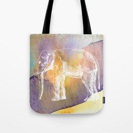 Color Spot Safari Elephant Tote Bag