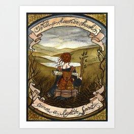 With a heavier back comes a lighter spirit Art Print