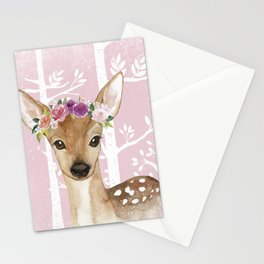 Animals in Forest - The Little Deer Stationery Cards