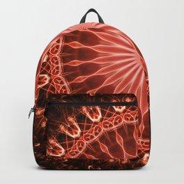 Pretty glowing red mandala Backpack
