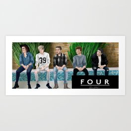 One Direction Four Art Print