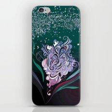 Wind tangle, blue iPhone & iPod Skin