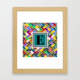 E Monogram Framed Art Print