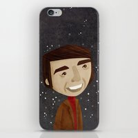 sagan iPhone & iPod Skins featuring Carl Sagan by Stephanie Fizer Coleman