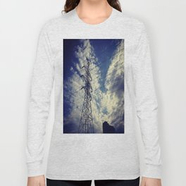 Heavenly spring sky in an industrial world Long Sleeve T-shirt