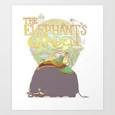 The Elephant's Garden - Version 2 Art Print