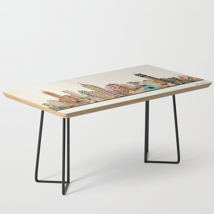 Montreal Skyline Coffee Table By Bribuckley