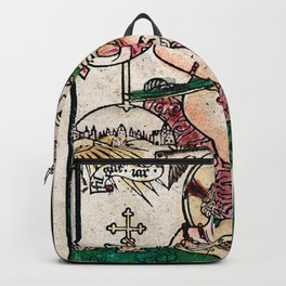 The Child Jesus (Happy New Year) Woodblock Backpack