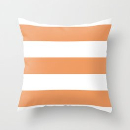 Pumpkin Stripe Throw Pillow
