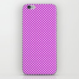 Dazzling Violet and White Polka Dots iPhone Skin