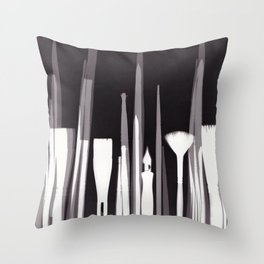 Paintbrush Photogram Throw Pillow