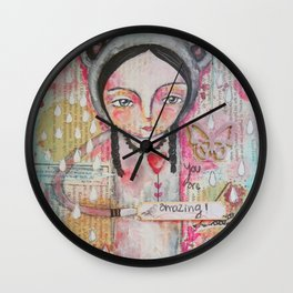 you are amazing Wall Clock