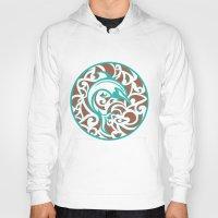 maori Hoodies featuring Maori Dolphin by freebornline
