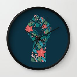 Botanical Resist Fist Wall Clock