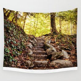 Rock Stairway Cades Cove Tennessee by Alli Gunter Photography Wall Tapestry