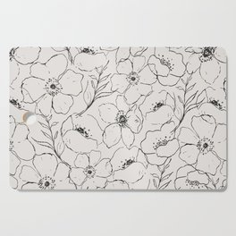 Floral Simplicity - Neutral Black Cutting Board