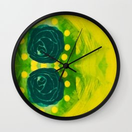 Lime Rose Wall Clock