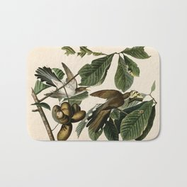Yellow-billed Cuckoo, Birds of America by John James Audubon Bath Mat
